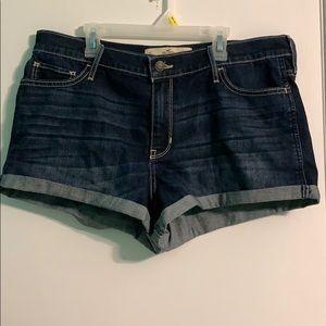 Hollister Dark Wash High-Rise Short-Shorts
